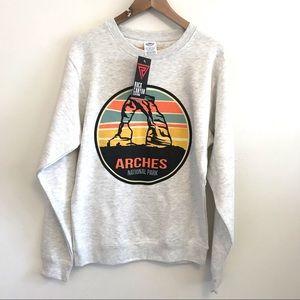 Arches National Park Logo Crew Sweatshirt NWT